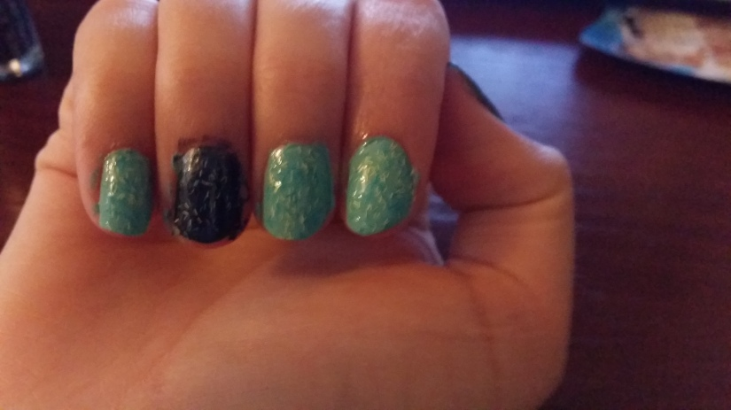 My finished (smudge free) nails