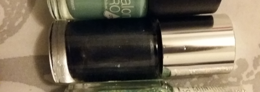 The three nail varnishes I used for my self-care session.