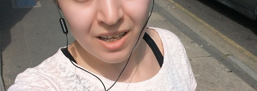 selfie of woman out running
